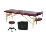 Ironman Colorado Massage Table with Carry Bag and Massage Stool (Burgundy)