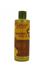 Alba Botanica Kukui Nut Organic Body Oil, 8.5-Ounce Bottle (Pack of 2)