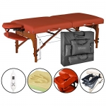 Master Massage 31 Santana Therma Top LX Portable Massage Table Package (with FREE Carrying Case, Bolster, Spa Music CDs and Pillow Covers)